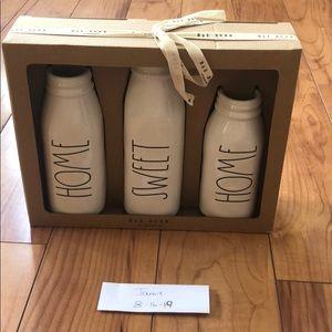 Rae Dunn 'Home Sweet Home' Milk Vases